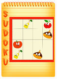 Sudoku 7. Color illustration of a sudoku for kids Royalty Free Stock Images