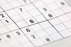 Sudoku background Royalty Free Stock Image
