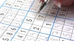 Sudoku stock footage