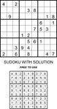 Sudoku com solução livra para usar-se Fotos de Stock Royalty Free