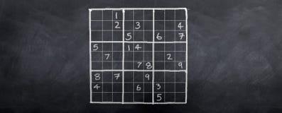 Sudoku difícil Imágenes de archivo libres de regalías