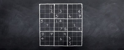 Sudoku Difficult Royalty Free Stock Images