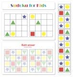 Sudoku für Kinder mit bunten geometrischen Zahlen vektor abbildung