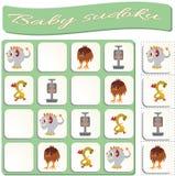 Sudoku für Kinder mit bunten Monstern Spiel f?r Vorschulkinder lizenzfreie abbildung