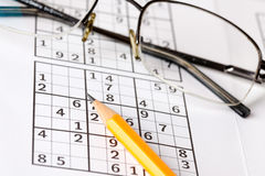 Sudoku game Royalty Free Stock Photos