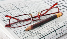 Sudoku game. Royalty Free Stock Images