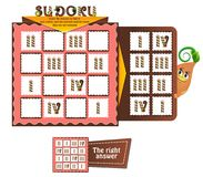 Sudoku game candles. Sudoku game for children with candles. Kids activity sheet. Training logic, iq, educational game Royalty Free Stock Photos