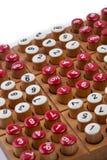 Sudoku gry planszowa zakończenie up na bielu Zdjęcie Royalty Free