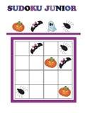 Sudoku junior. Game for halloween: Sudoku junior Stock Image