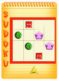 Sudoku for kids 6. Color illustration of a Sudoku for kids Stock Photography