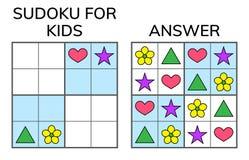 Sudoku. Kids and adult mathematical mosaic. Magic square. Logic. Puzzle game. Digital rebus. Vector illustration vector illustration