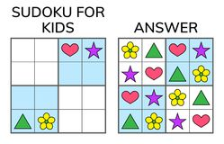 Sudoku. Kids And Adult Mathematical Mosaic. Magic Square. Logic Royalty Free Stock Image