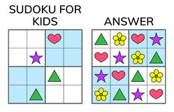 Sudoku. Kids And Adult Mathematical Mosaic. Magic Square. Logic Royalty Free Stock Photo