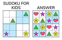 Sudoku. Kids And Adult Mathematical Mosaic. Magic Square. Logic Royalty Free Stock Photos