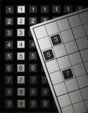 Sudoku lek Royaltyfri Bild