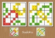 Sudoku middle level vector set Stock Photos
