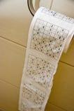 Sudoku papier toaletowy Fotografia Stock