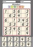 sudoku para crianças, cortado e colado da imagem Fotografia de Stock Royalty Free
