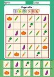 sudoku para los niños, cortar y pegar de la imagen Foto de archivo