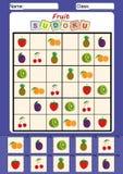 sudoku para los niños, cortar y pegar de la imagen Fotografía de archivo libre de regalías