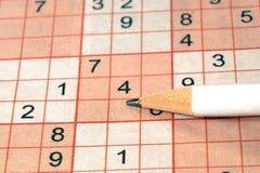 Sudoku puzzle Stock Photo