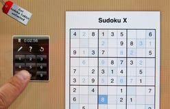 Sudoku puzzle Stock Image