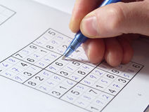 Sudoku Puzzle Royalty Free Stock Photos