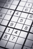 Sudoku puzzle closeup Royalty Free Stock Photography