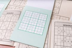 Sudoku puzzle game Royalty Free Stock Photo