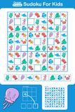 Sudoku puzzle for kids Royalty Free Stock Photos