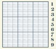 Sudoku scheme - Vector illustration Stock Photo