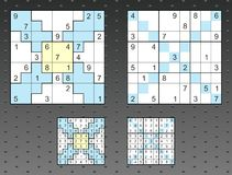 Sudoku set Stock Photo