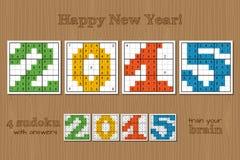Sudoku set 2015 Royalty Free Stock Images