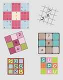 Sudoku set Stock Image
