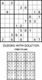 Sudoku with solution free to use Royalty Free Stock Photos