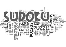 A Sudoku Strategy Or Just A Puzzle Word Cloud Stock