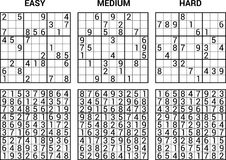 Sudoku. Puzzle game with answers - vector illustration Stock Images