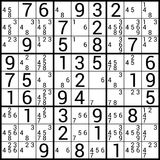Sudoku. Puzzle game - vector illustration Royalty Free Stock Photo