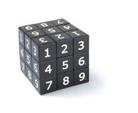 Sudoku sześcianu łamigłówka Obrazy Royalty Free