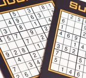 Sudoku table numbers Stock Photos