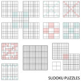 Sudoku templates Stock Photography