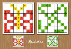 Sudoku Vector Set Stock Photo