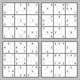 Sudoku vektoruppsättning Royaltyfri Bild