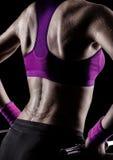 Sudore della ginnasta fotografia stock libera da diritti