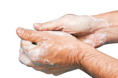 Sudsy hands Stock Image