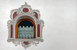 Sudtirol装饰了窗口 库存照片