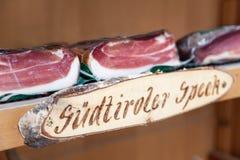 Sudtiroler bacon from Austria Royalty Free Stock Photos