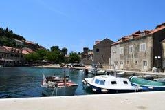 Sudurad på ön av Sipan i Kroatien arkivfoto