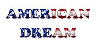 Sueño americano ilustración del vector