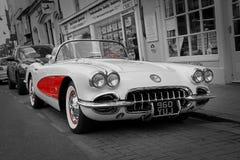 Sueño americano del coche clásico de corbeta del vintage imagen de archivo libre de regalías